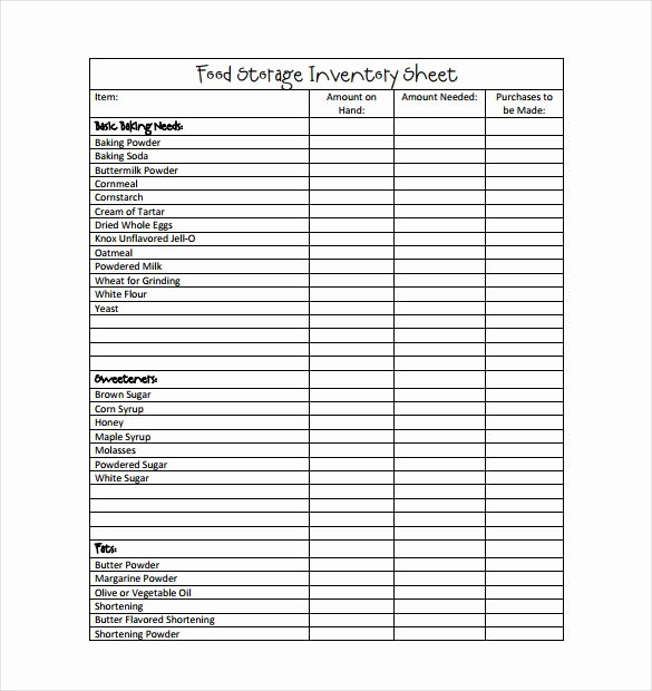 Food Inventory List Template Fresh 13 Best Food Inventory Template Images On Pinterest