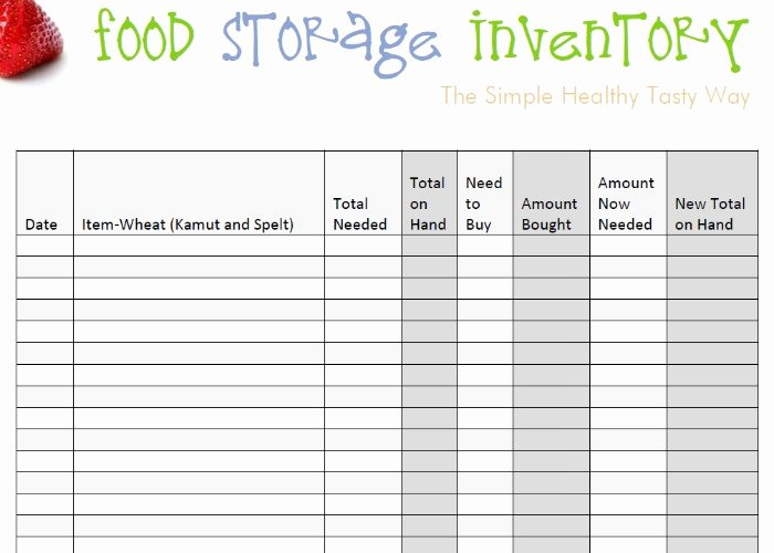 Food Inventory List Template Fresh Food Storage Inventory Spreadsheets You Can Download for
