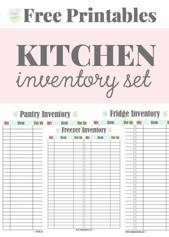 Food Inventory List Template Inspirational Kitchen Inventory Printables Simply Stacie