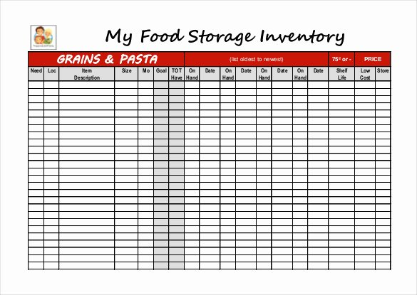 Food Inventory List Template Lovely 12 Food Inventory Templates – Free Sample Example
