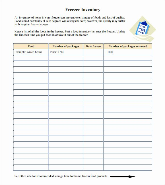 Food Inventory List Template Lovely Free 8 Food Inventory Samples In Pdf