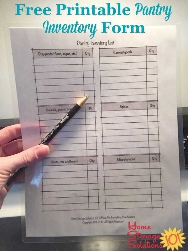 Food Inventory List Template Lovely Free Printable Pantry List Keep An Inventory and Stay
