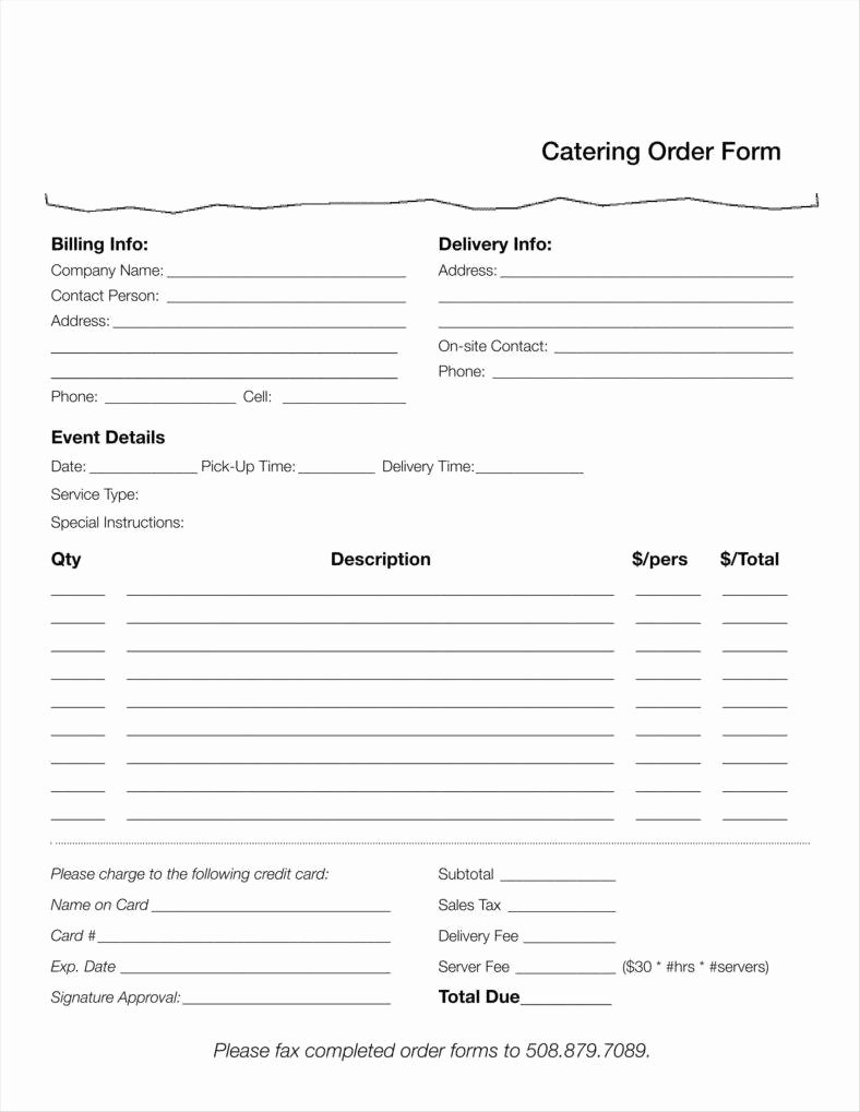 Food order form Template Luxury 10 Food order form Templates Word Docs