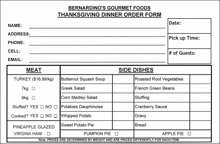 Food order form Template New 14 Best Restaurant order form Template Images On Pinterest
