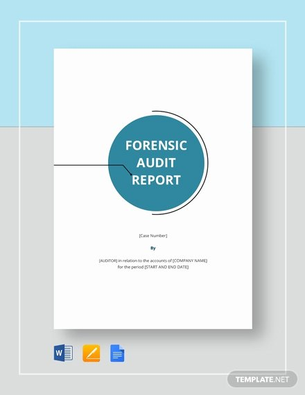 Forensic Report Template Microsoft Word Awesome 9 forensic Audit Report Templates Pdf Word Google