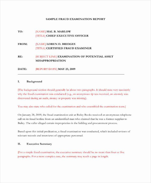 Forensic Report Template Microsoft Word Beautiful 9 forensic Audit Report Templates Pdf Word Google