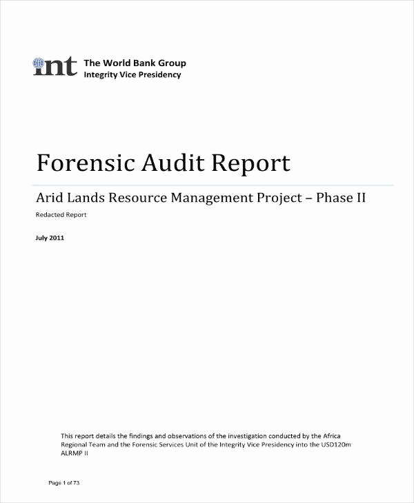 Forensic Report Template Microsoft Word Unique 9 forensic Audit Report Templates Pdf Word Google
