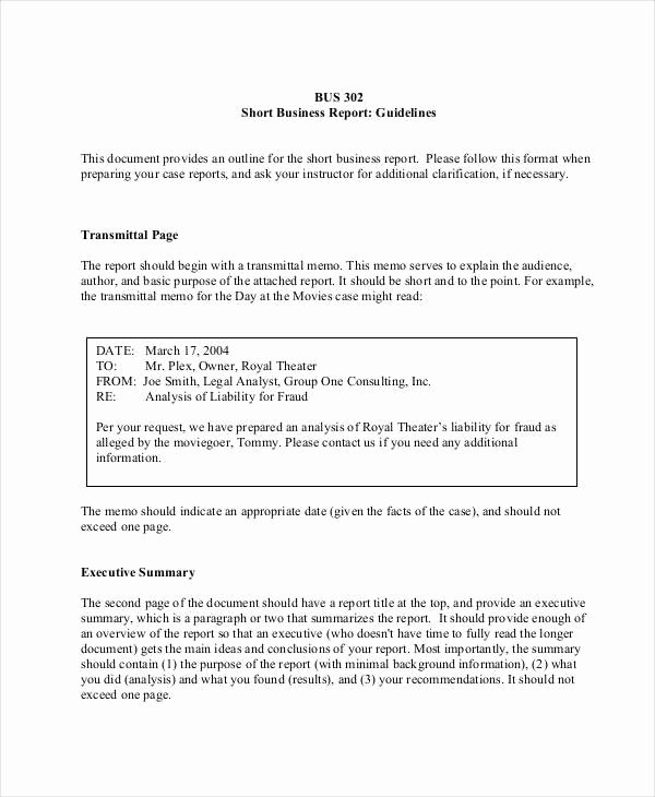Formal Business Report Template Beautiful 8 formal Outline Templates Free Sample Example format