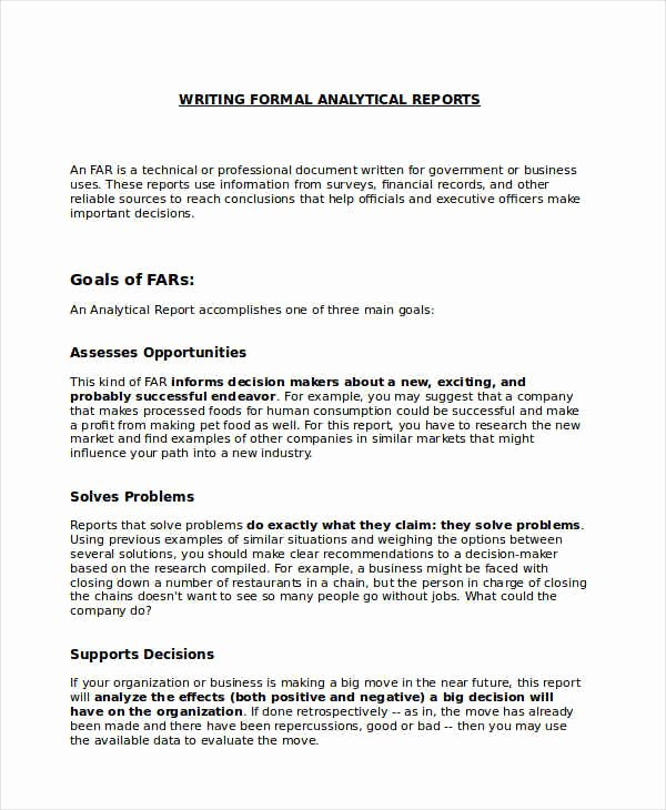 Formal Business Report Template Fresh Free 13 formal Report Examples & Samples In Pdf