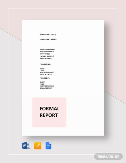Formal Business Report Template Lovely 538 Free Report Templates Pdf Word Excel