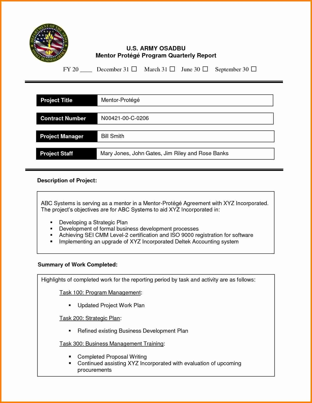 Formal Business Report Template New 8 formal Report Template