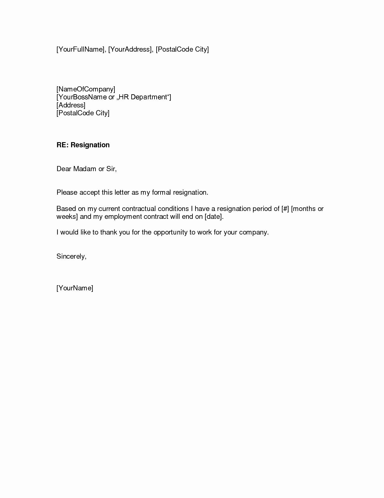 Formal Resign Letter Template Elegant Resignation Letters Download Pdf Doc format