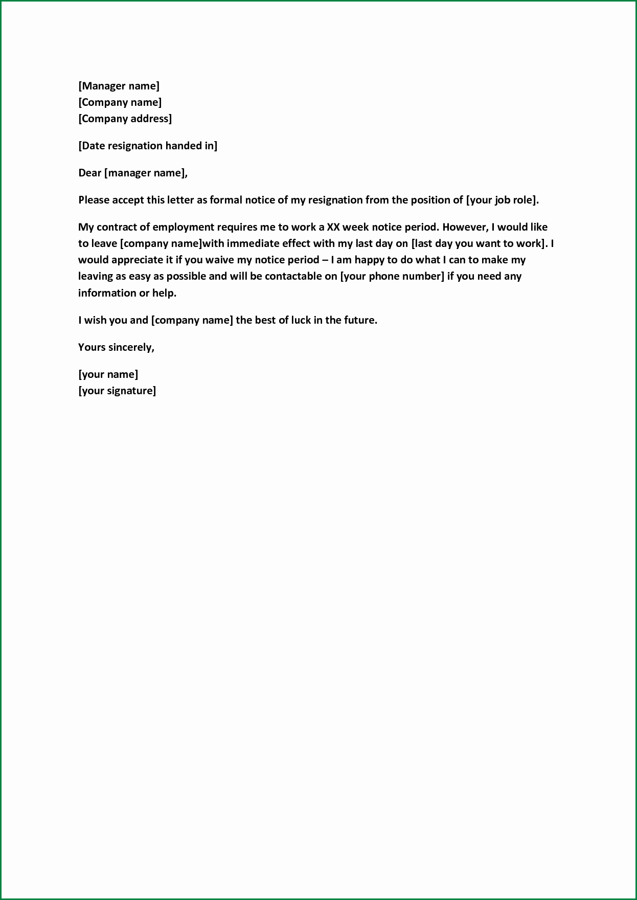 Formal Resign Letter Template Lovely formal Resignation Letter Sample with Notice Period