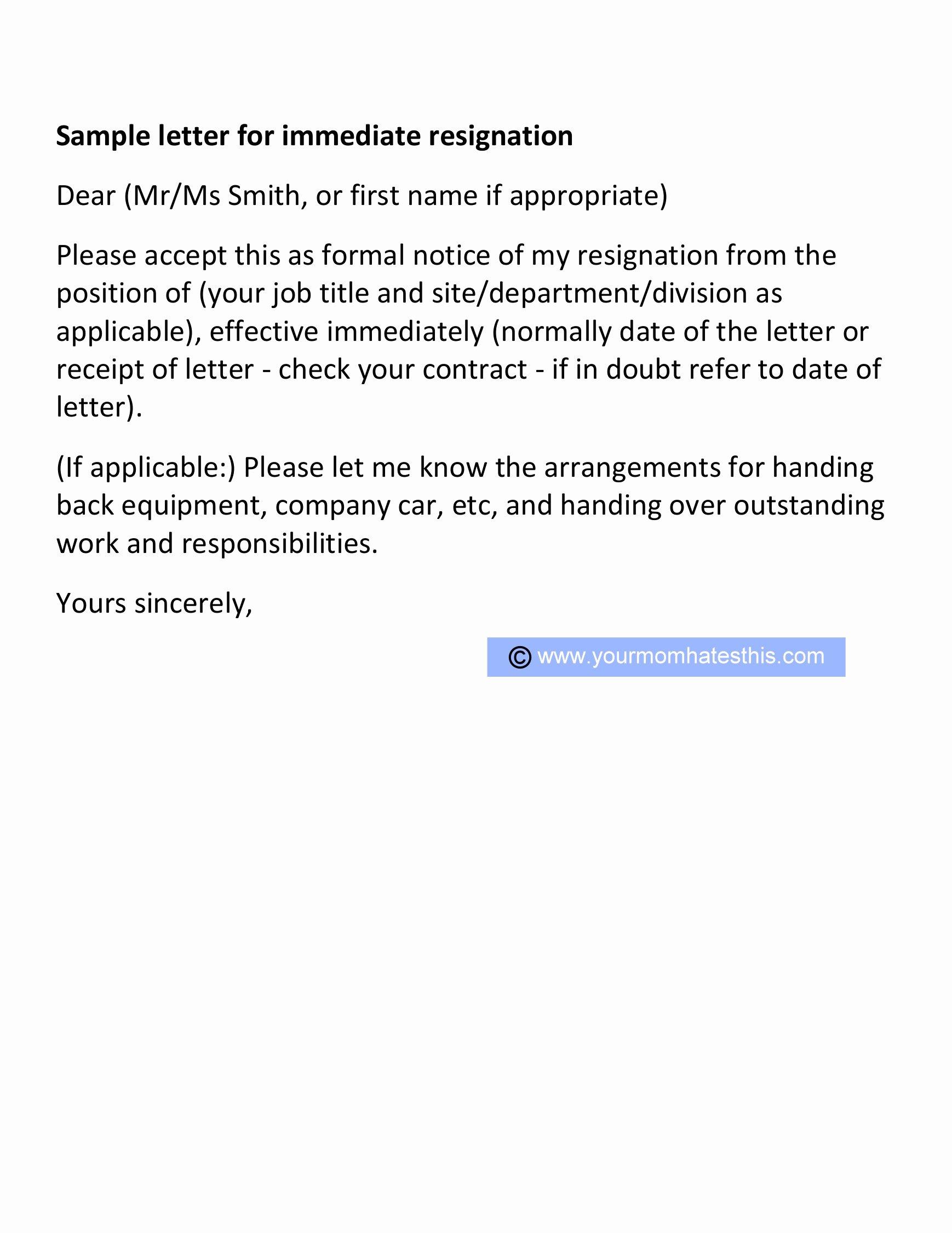 Formal Resign Letter Template Lovely Resignation Letter Samples Download Pdf Doc format