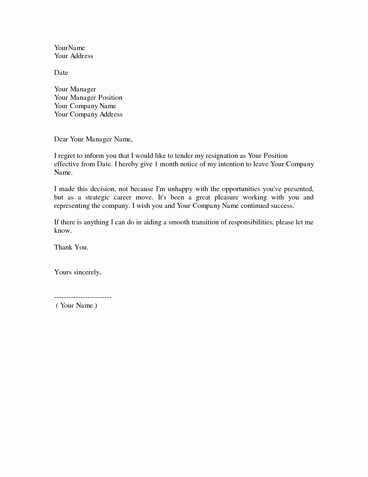 Formal Resign Letter Template Luxury Dos and Don Ts for A Resignation Letter
