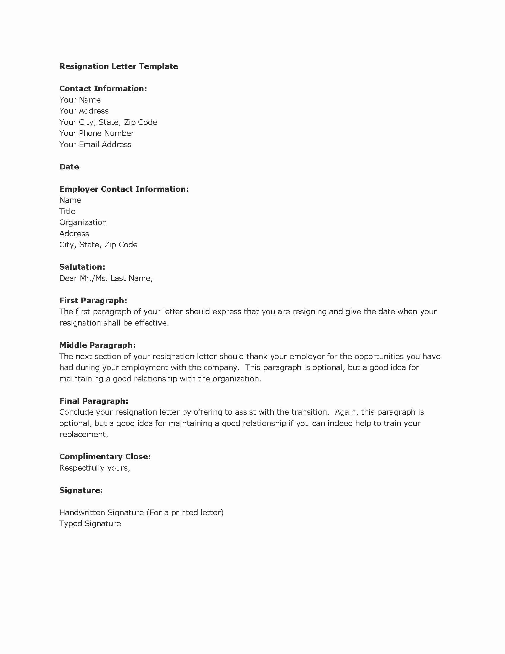 Formal Resign Letter Template Luxury Resignation Letters Download Pdf Doc format
