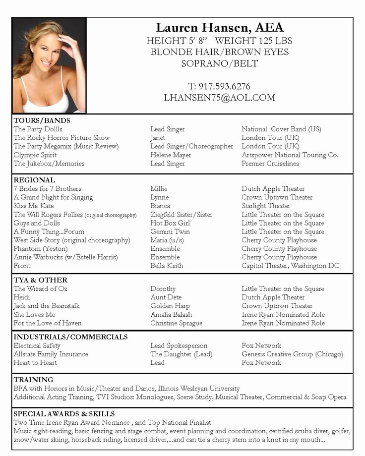Free Acting Resume Template Awesome Pinterest • the World's Catalog Of Ideas