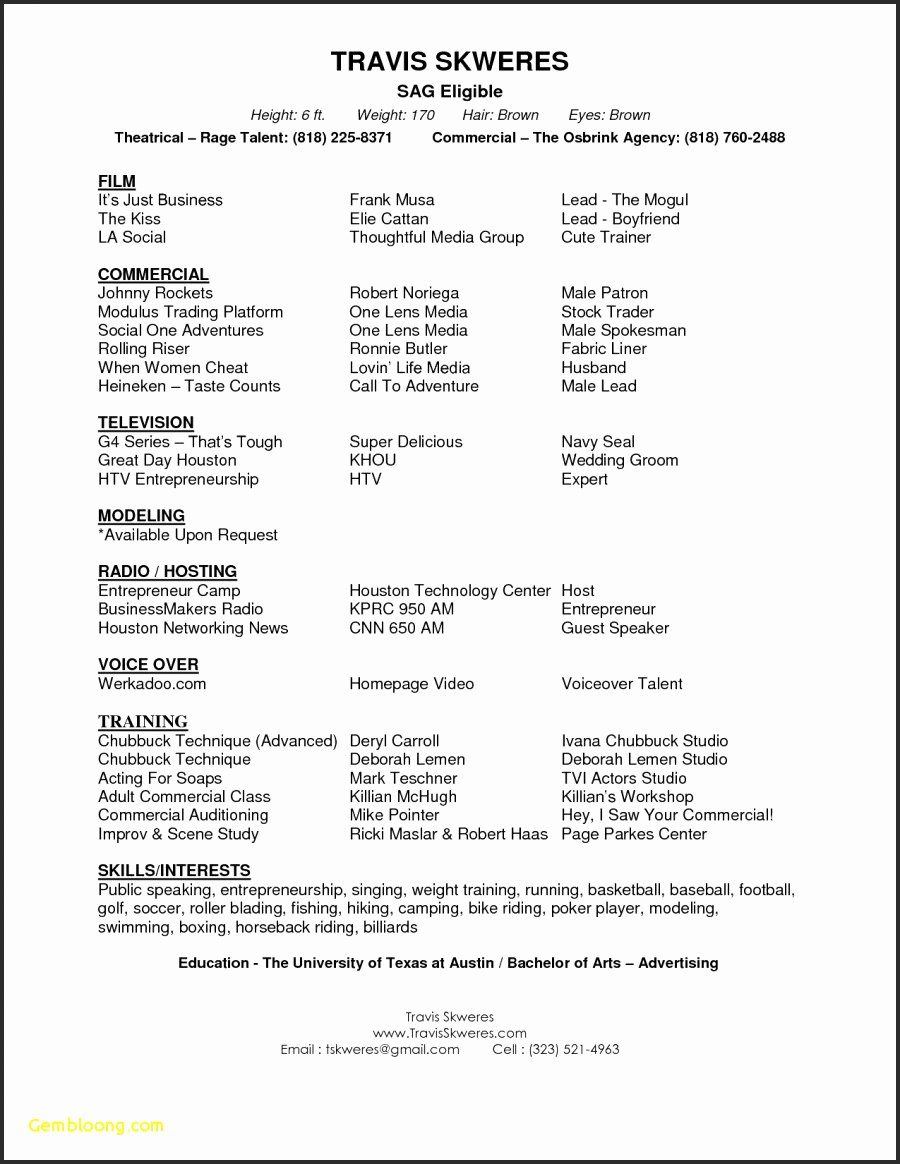 Free Acting Resume Template Unique 11 Acting Resume Template Google Docs Examples
