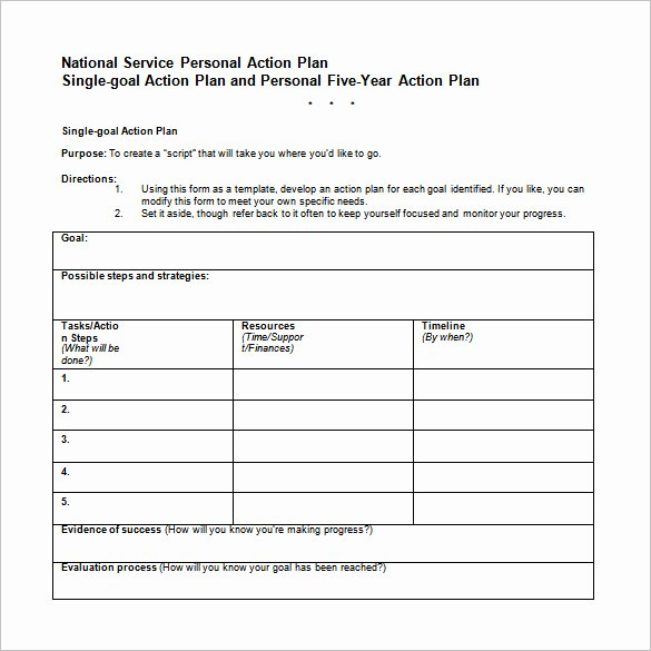Free Action Plan Template Best Of Career Action Plan Template 15 Free Sample Example