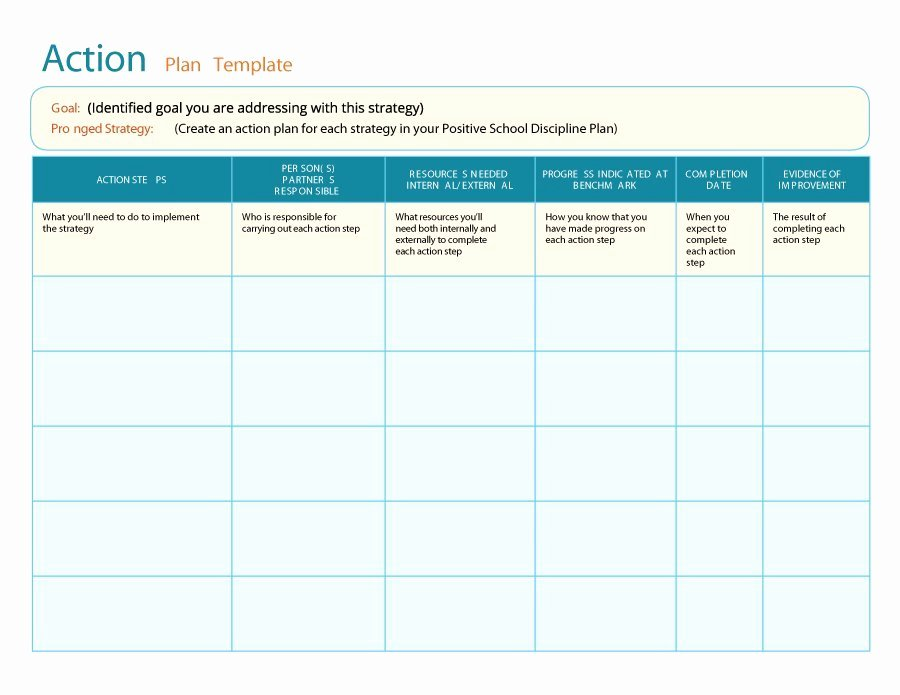 Free Action Plan Template Elegant 45 Free Action Plan Templates Corrective Emergency