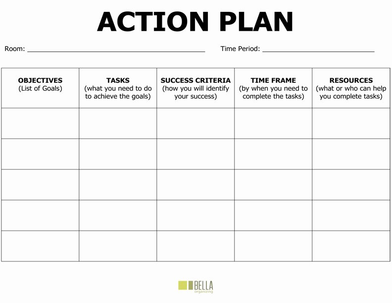 Free Action Plan Template Inspirational Action Plan Template