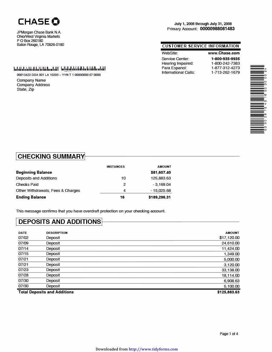 Free Bank Statement Template Awesome 23 Editable Bank Statement Templates [free] Template Lab