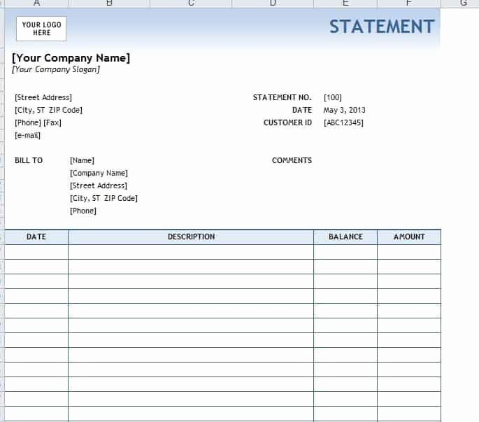 Free Bank Statement Template Awesome 4 Legal Statement Templates Word Excel Sheet Pdf
