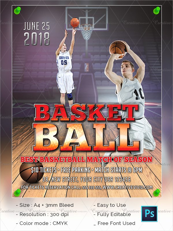 Free Basketball Flyer Template Awesome 31 Basketball Flyer Templates Free & Premium Download