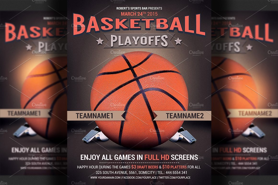 Free Basketball Flyer Template Awesome Basketball Flyer Template Flyer Templates Creative Market