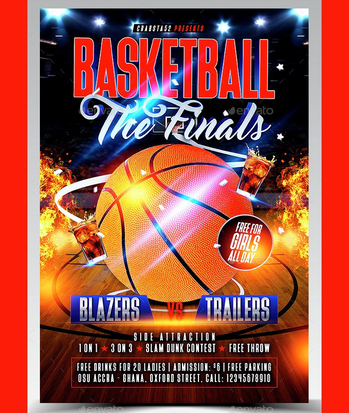Free Basketball Flyer Template Best Of 36 Basketball Flyer Psd Templates Free & Premium Designyep
