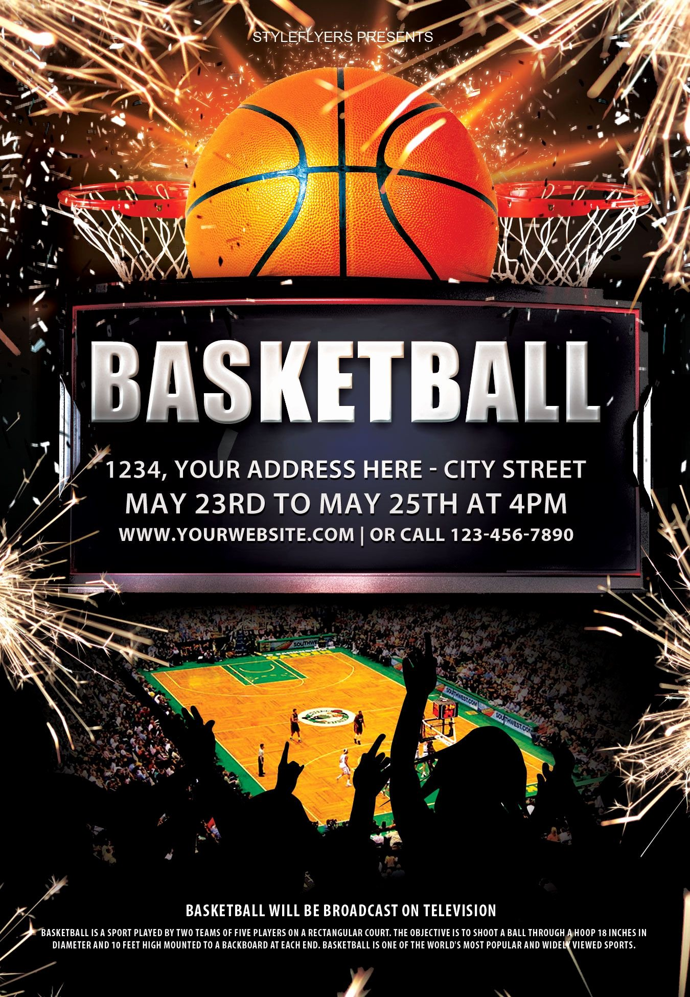 Free Basketball Flyer Template Inspirational Basketball Psd Flyer Template