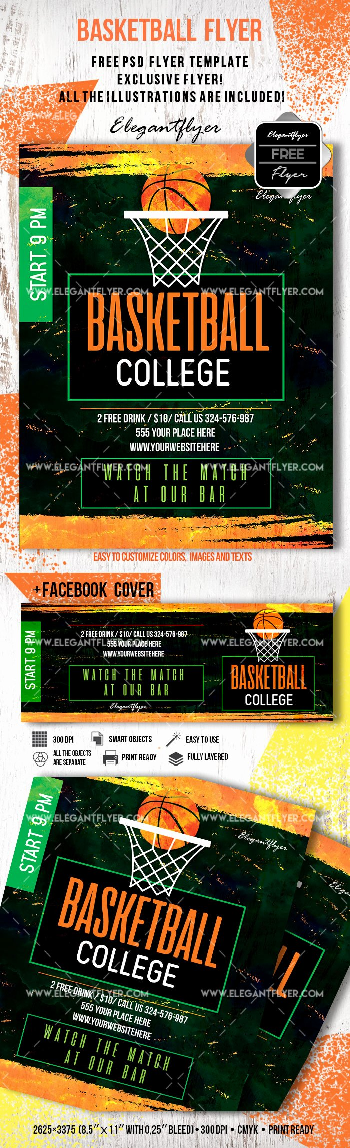 Free Basketball Flyer Template Inspirational Free Basketball Flyer Template – by Elegantflyer