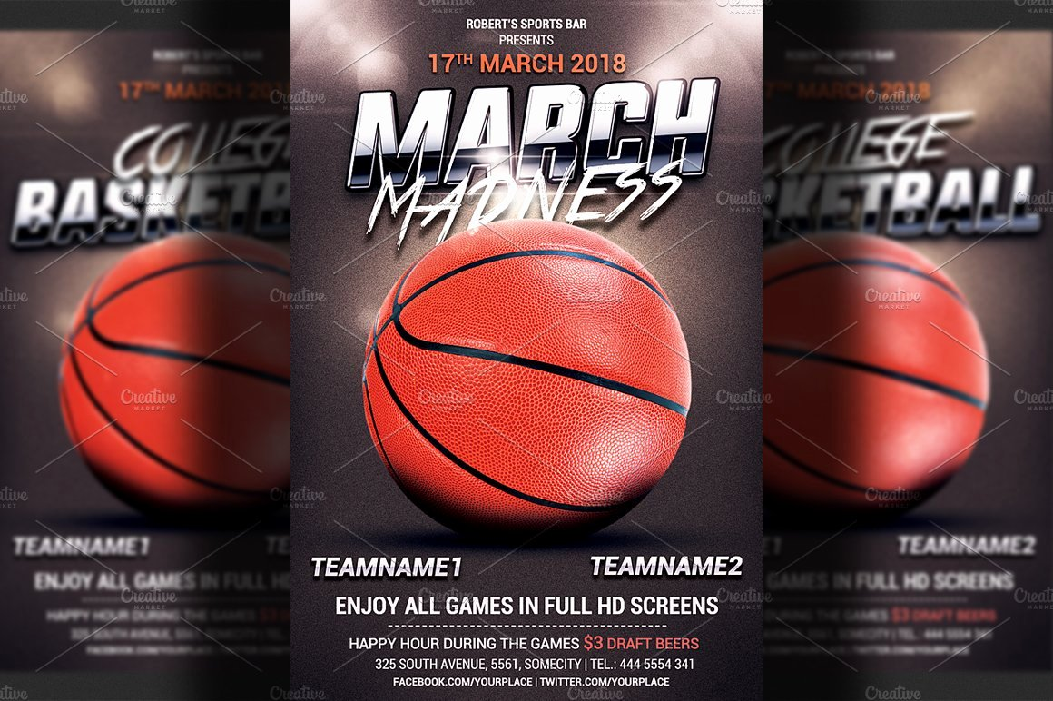 Free Basketball Flyer Template Luxury Basketball Flyer Template Flyer Templates Creative Market
