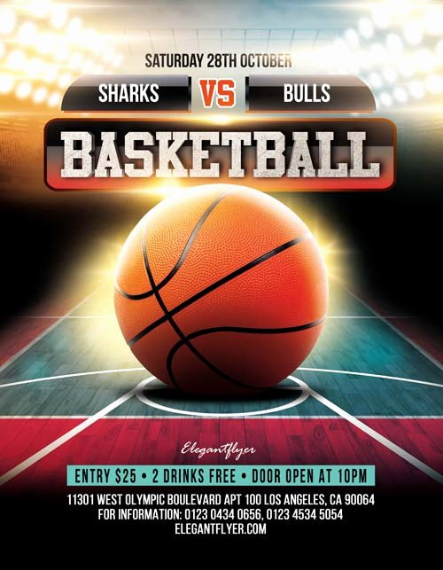 Free Basketball Flyer Template Luxury Basketball Game Free Sport Psd Flyer Template for