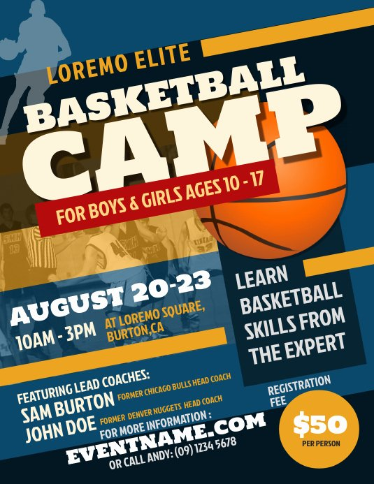 Free Basketball Flyer Template Unique Basketball Camp Flyer Template