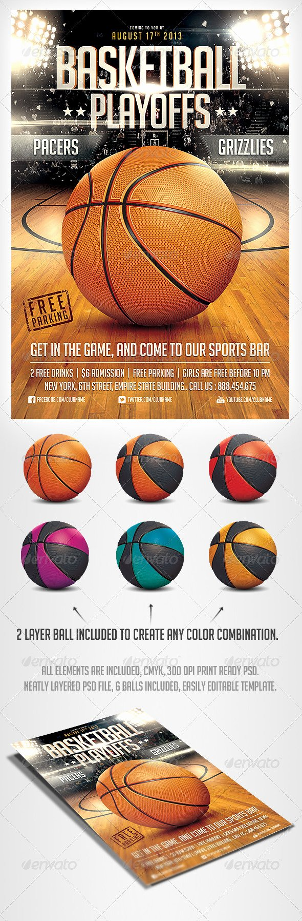 Free Basketball Flyer Template Unique Basketball Game Flyer Psd Template Sports events
