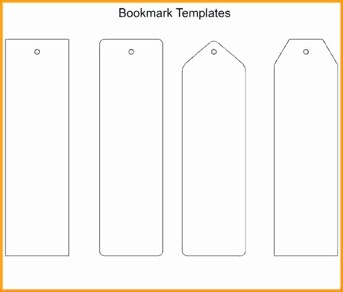 Free Blank Bookmark Template Awesome Standard Size Bookmarks