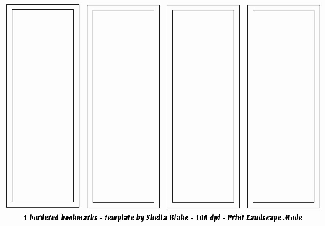 Free Blank Bookmark Template Beautiful Bookmark Template Publisher