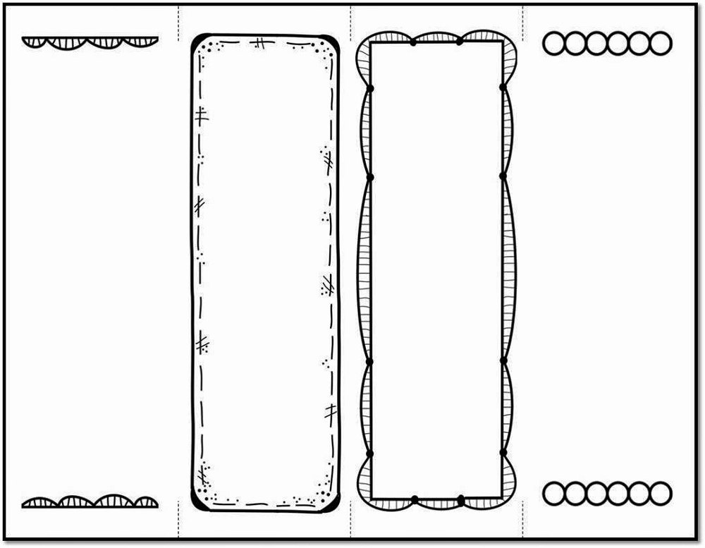 Free Blank Bookmark Template Beautiful Bookmark Template to Print