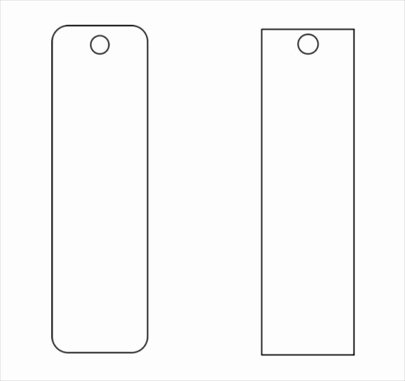 blank funeral bookmark template