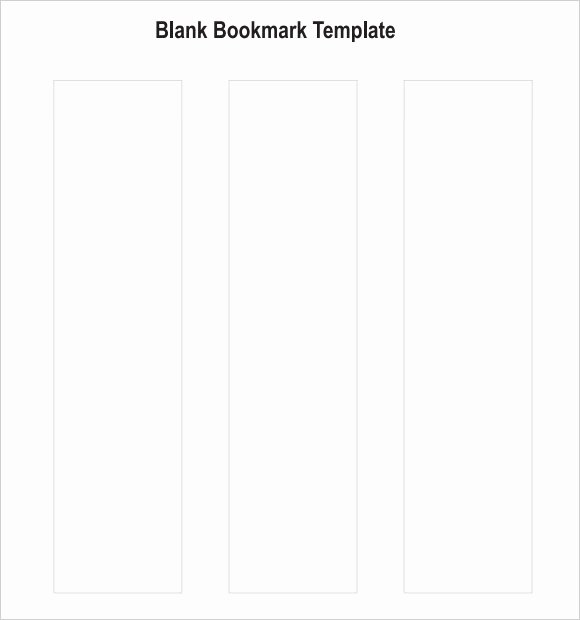 Free Blank Bookmark Template Inspirational Sample Blank Bookmark 6 Documents In Pdf Word