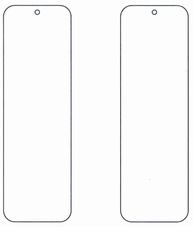 Free Blank Bookmark Template Unique Blank Bookmarks Template Template Update234