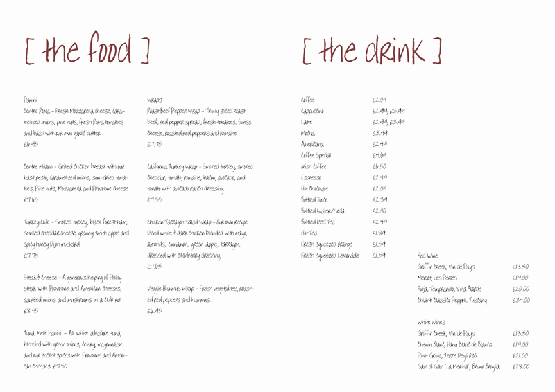 Free Blank Menu Templates Beautiful Free Menu Templates