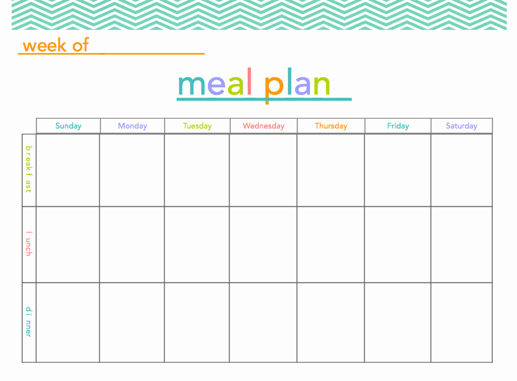 Free Blank Menu Templates Elegant Free Meal Plan Printable All Things Mamma