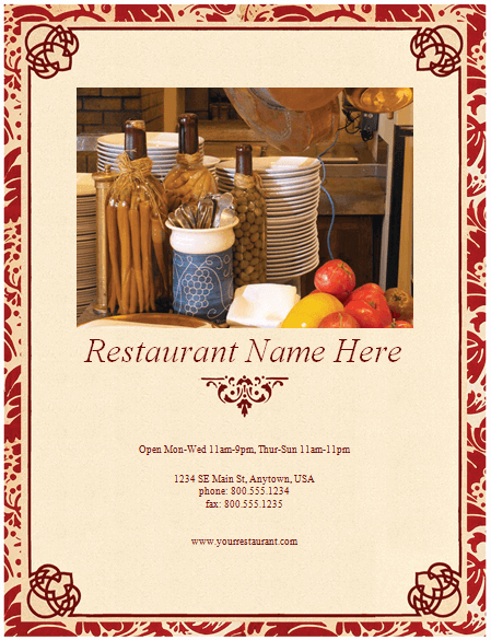 Free Blank Menu Templates Elegant Restaurant Menu Template 8 Free Restaurant Menus