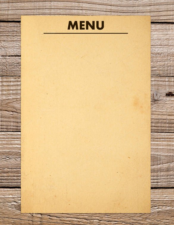 Free Blank Menu Templates Fresh 37 Blank Menu Templates Pdf Ai Psd Docs Pages
