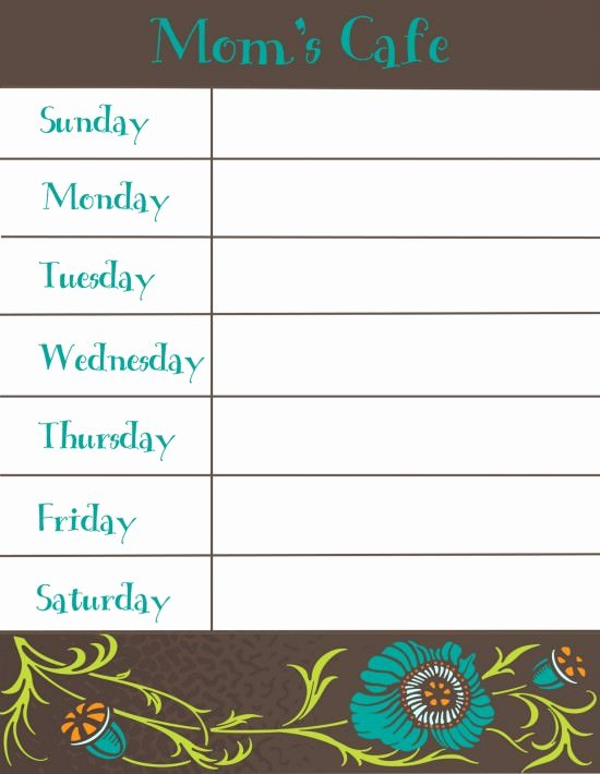 Free Blank Menu Templates New 30 Family Meal Planning Templates Weekly Monthly Bud