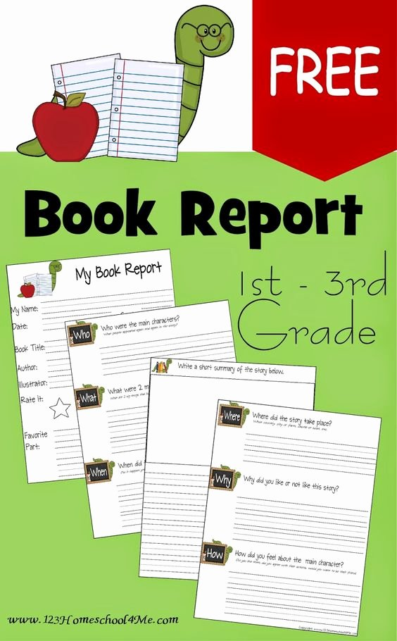 Free Book Report Templates Elegant Book Report forms Free Printable Book Report forms for