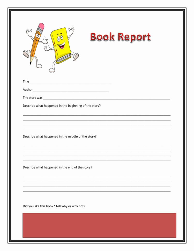 Free Book Report Templates Fresh Book Report 10 Free Templates Guidlines to format A