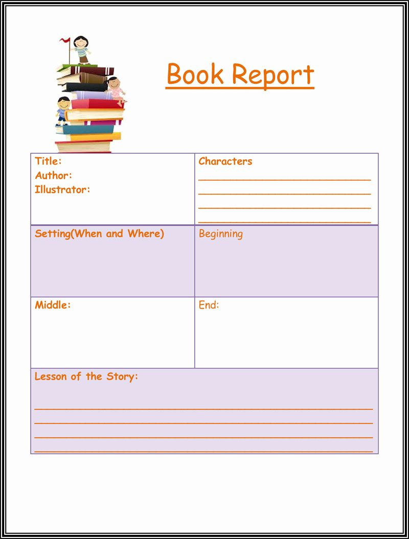 Free Book Report Templates Inspirational Free Book Report & Worksheet Templates Word Layouts